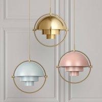 GUBI Multi Lite hanging lamp 32 cm brass ros