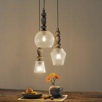 Three bulb Talisa glass pendant lamp