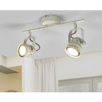 Two bulb LED ceiling lamp Leonor in white