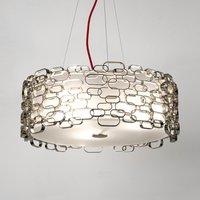 Glamour   designer hanging light in silver