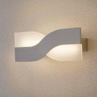 Riace LED wall light 30 cm aluminium
