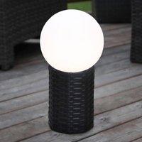 LED solar globe Lug with base  diameter 20 cm