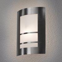 Beautiful LED outdoor wall lamp Katalea in silver