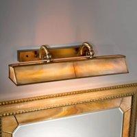 Classic Galleria picture light amber  brass