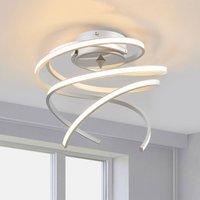 LED ceiling lamp Lungo alu  25 cm high