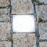 Walk on LED recessed floor light  paving stone