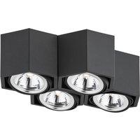 Image of Deckenlampe Elvas schwenkbar vierflammig schwarz