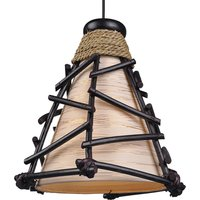 Decorative Romy pendant light with wood