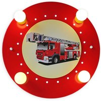 Fire Engine ceiling light  red and yellow  4 bulb
