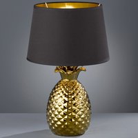 Black and gold Pineapple fabric table lamp  45 cm
