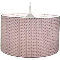 Hearts fabric hanging light  pink magenta