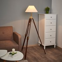 Magnificent floor lamp STATIV with white lampshade