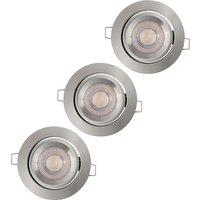 LEDVANCE Simple Dim LED spot in the 3 set  br  alu