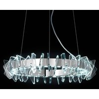 Ring shaped EOS LED hanging light with glass