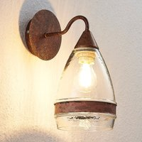 Glass wall light Millina  rusty brown