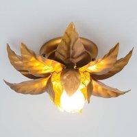 Ceiling light ANTIK with golden leaves 26 cm