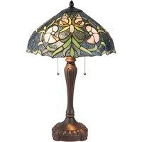 5922 table lamp  Tiffany style  2 bulb  blue