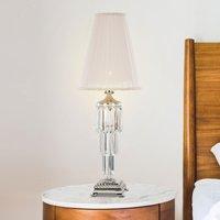 Sevilla table lamp with crystal  glossy nickel