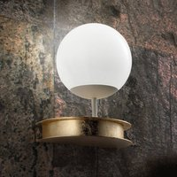 Magnificent LED wall lamp Sfera in gold