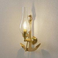 Distinctive wall light Fishermen in brass