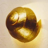 Stylish wall lamp SNAIL ONE gold