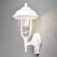 Parma outdoor wall lamp with sensor  white