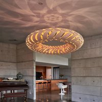 david trubridge Maru hanging lamp 110 cm caramel