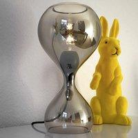 next Blubb   handblown glass table lamp  chrome