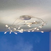 Exclusive ceiling light Spin Oval  chrome