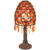 Tafellamp Bella met parels hoogte 35 cm