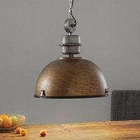 Brown hanging light Bikkel XXL  industrial design