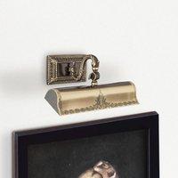 Image of Bilderleuchte Capitel gold brüniert, 31cm