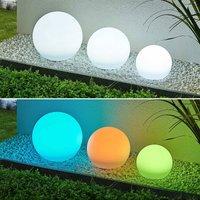 Lindby Lago LED solar lamps RGBW  set of 3 balls