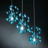 Fascinating hanging light Blue three bulb