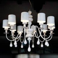 Prestigious chandelier Eva S10  white