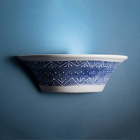 Blue white ceramic wall light Nelli
