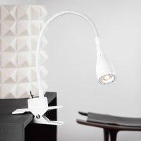 Flexible LED clip lamp Mento  white