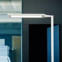 Yara single LED floor lamp CCT  BT  LTX  silver