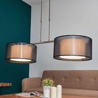 Tessuto pendant light  height adjustable  two bulb