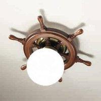 Timone ceiling light  spherical glass white