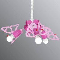 Butterfly hanging light for a child s room 3 bulb
