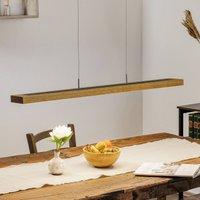 HerzBlut Dana hanging lamp oiled oak slate 90 cm