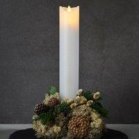 Sara Calendar LED candle white gold height 29 cm