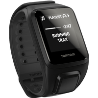 tomtom  runner 2 music/cardio gps watch black/anth small