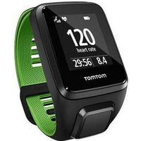 tomtom  runner 3 music/cardio gps watch black/green small