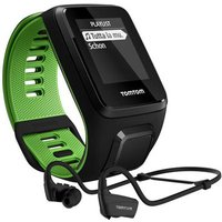 tomtom  runner 3 music/cardio + headphones gps watch black/green...