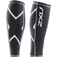 2XU - Compression Calf Guards Black/Black LG