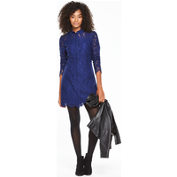 V By Very All Over Lace Collared Dress