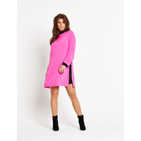 Coleen Long Sleeved Contrast Lining Dress