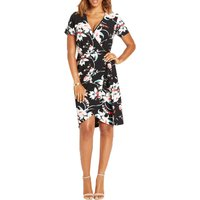 Very Printed Wrap Front Dress